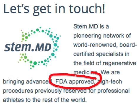 Stem.MD-FDA