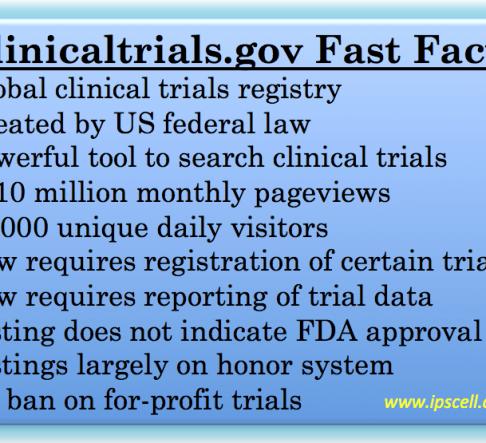 clinicaltrials.gov, clinical trials