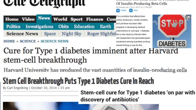 Stem Cell Diabetes Hype