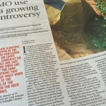 Big article in SacBee on GMO battle