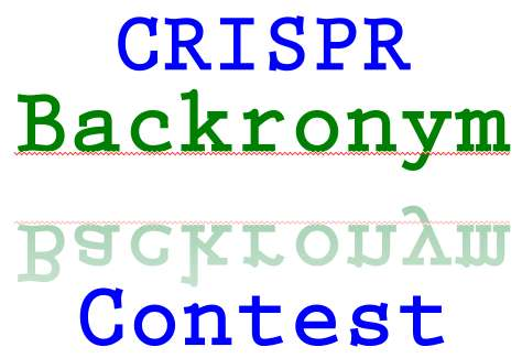 CRISPR backronym contest