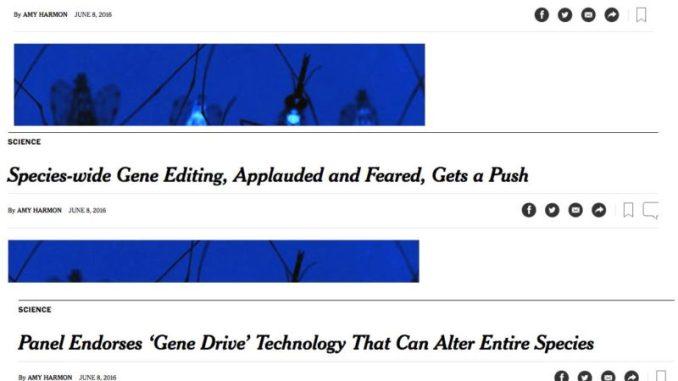 Harmon Gene Drive article headline