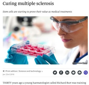 Curing Multiple Sclerosis Stem Cells