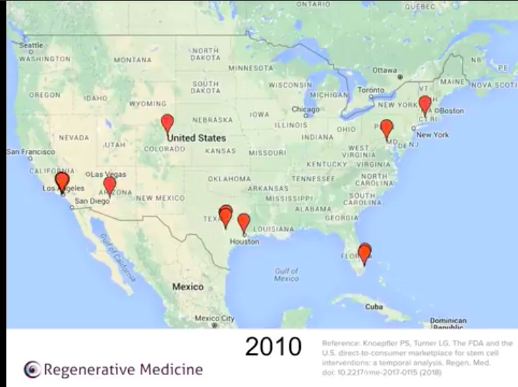 Animated map video shows wildfire spread of US stem cell clinics ...