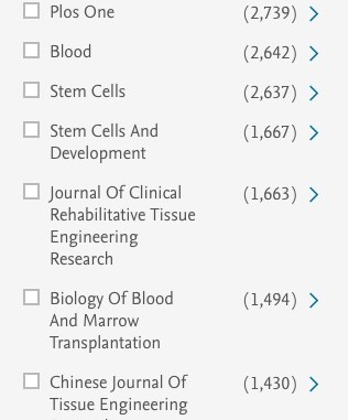 stem cell journals list