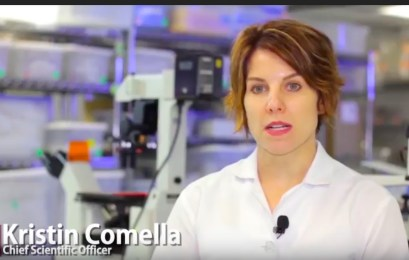 US Stem Cell, Kristin Comella CSO, screenshot from YouTube video by the company