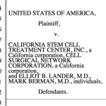 DOJ cites The Niche blog in suit vs. stem cell clinic firm: what's scoop?
