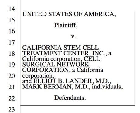 USA vs. California stem cell; The Niche