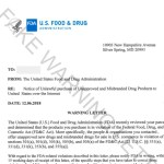 Fake FDA warning letter scam