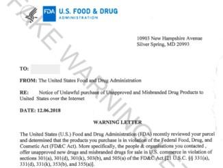 fake FDA warning letter