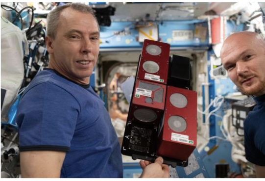 CubeLabs on the International Space Station. credit Twyman Clements