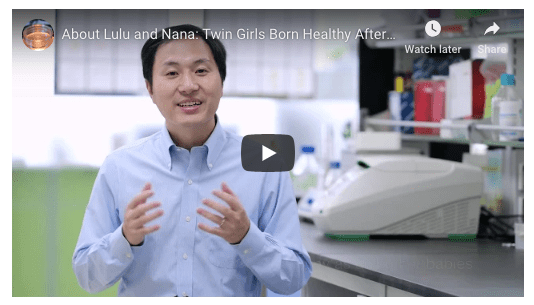 Jiankui He who claims CRISPR baby production