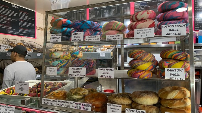 The Bagel Store Original Rainbow Bagel in Brooklyn