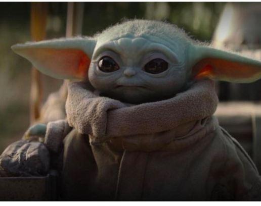 Baby Yoda from The Mandalorian