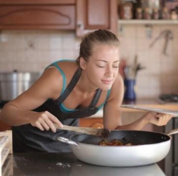 woman smelling food, COVID-19 Anosmia