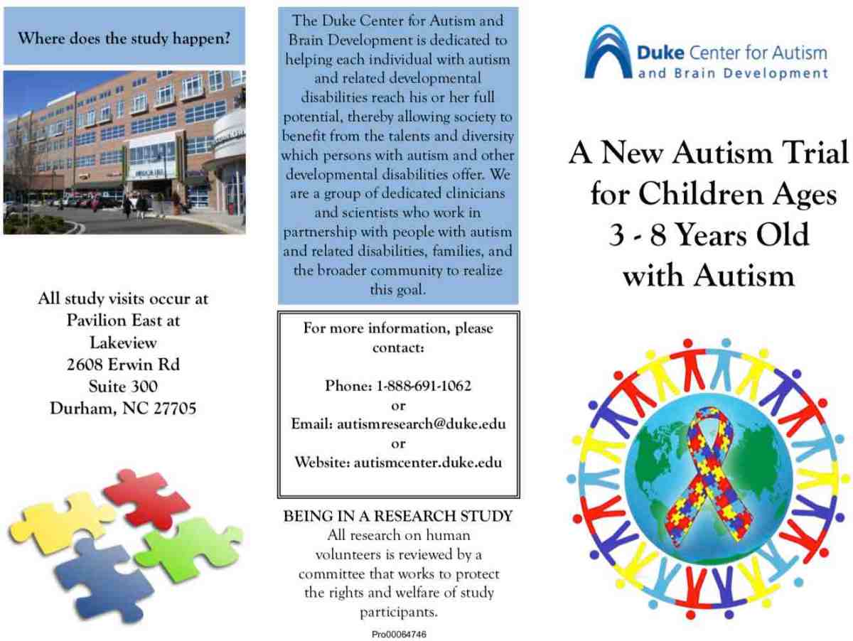 Duke-Curemark-autism-study-pamphlet, stem cell therapy for autism