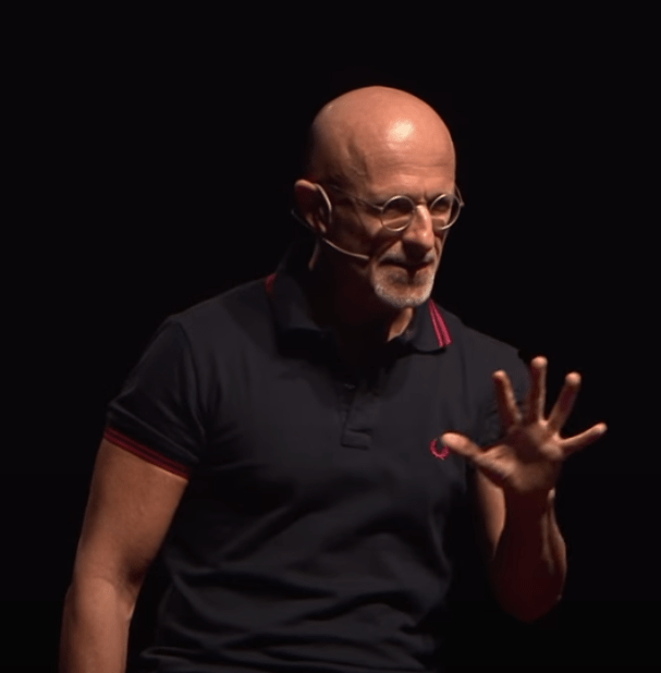 Sergio Canavero,perhaps the leading advocate of head transplant research, giving a TEDx talk on the topic. Screenshot from YouTube video.