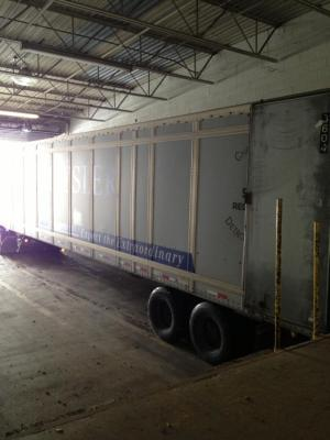 Our first ever delivery to our new building on Hill Ave. January 3, 2013. Right on Schedule.