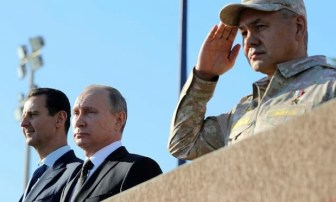 Russia - Putin declares victory
