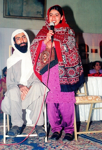 Bano and her cleric husband campaigning against child marriage. / Credit:Zofeen Ebrahim/IPS