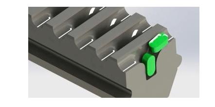 Custom slats for slat counters