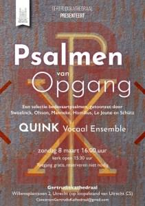 Concert 'Psalmen van Opgang'  - QUINK Vocaal Ensemble @ GertrudisKathedraal