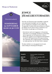 Jonge Hemelbestormers - Hoop & Toekomst @ Dominicuskerk, Händelstraat, Utrecht