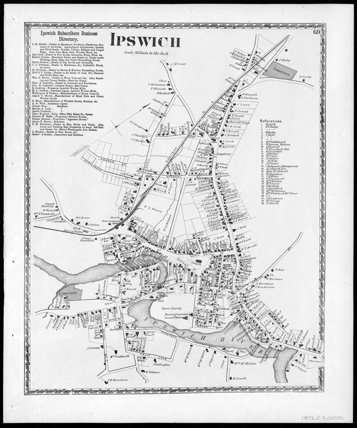 The ancient names of Ipswich streets and roads