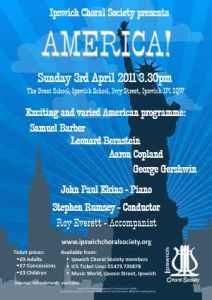 April 2011 concert poster