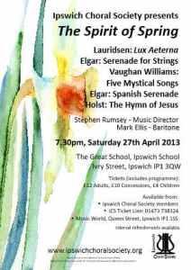 April 2013 concert poster
