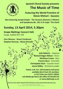 April 2014 concert poster