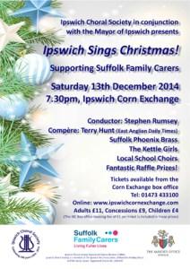 December 2014 concert poster