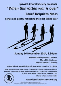 November 2014 concert poster