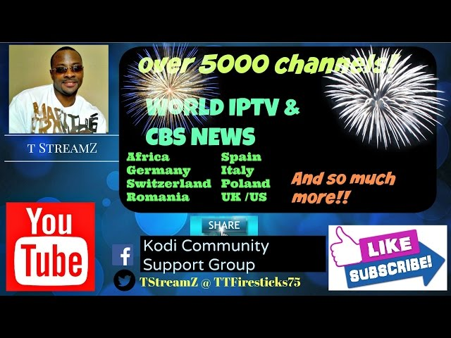 The Best Kodi World IPTV w/Over 5000