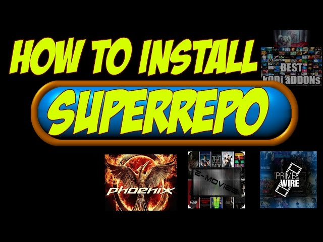 BEST KODI ADDON 2016 Z MOVIES 1CHANNEL PHOENIX SUPERREPO