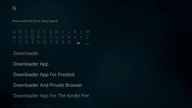 Install Downloader app on Firestick
