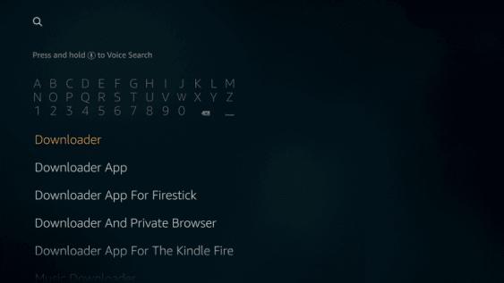 Install the Downloader app for Firestick