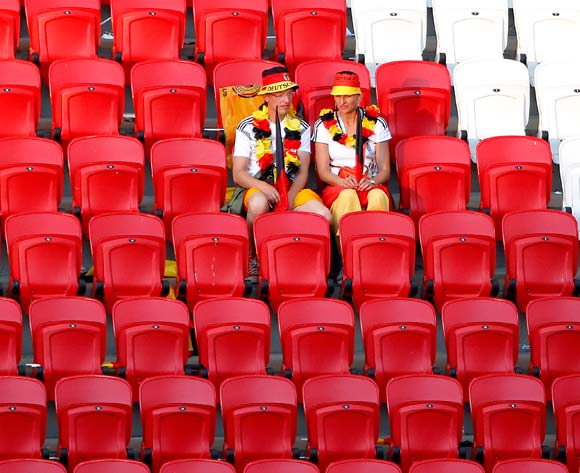 Supporters of Germany react after the FIFA World Cup 2018 group F preliminary round soccer match between South Korea and Germany in Kazan, Russia, 27 June 2018. EPA/Diego Azubel