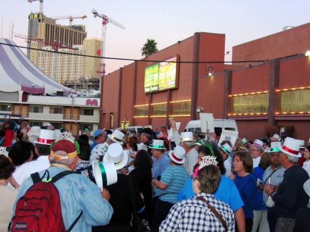 Westward Ho, Las Vegas - closing night November 17, 2005 - Hilton Grand Being Built in Background