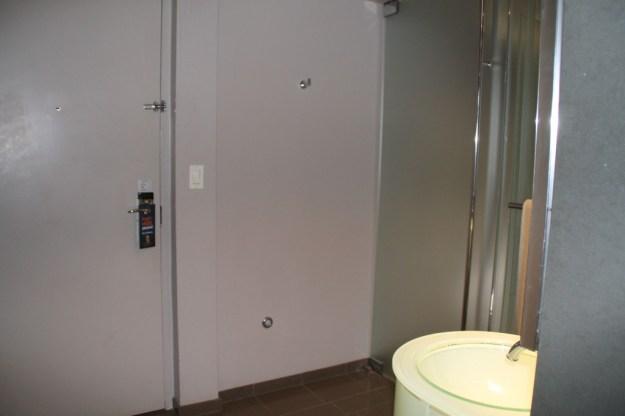 MGM Grand West Wing bathroom inside door