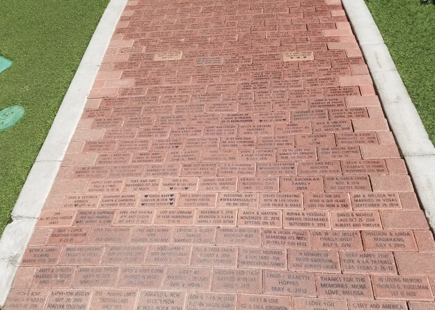 flamingo las vegas commemorative bricks