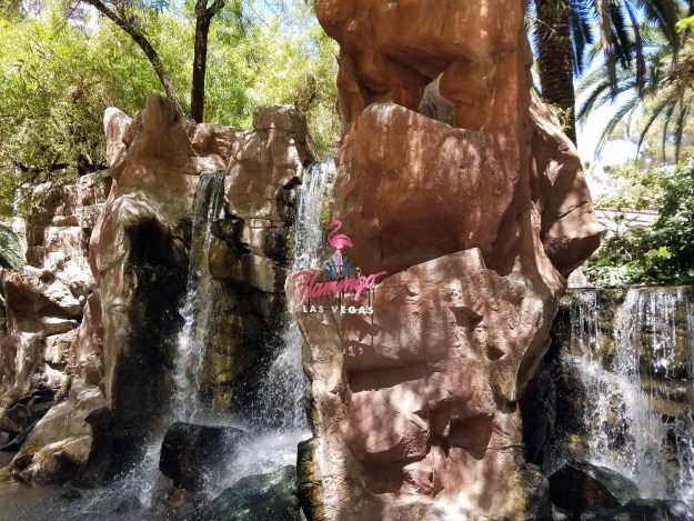 flamingo waterfall las vegas