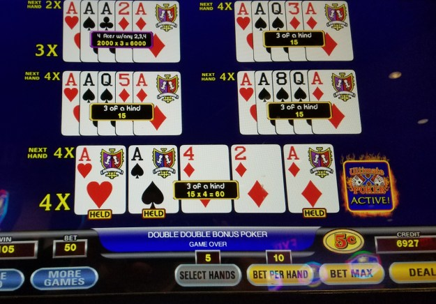 ultimate x video poker aces kicker multiplier ballys atlantic city