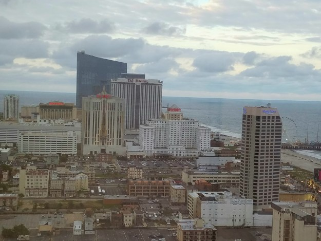 view from Ballys hotel Atlantic City New Jersey