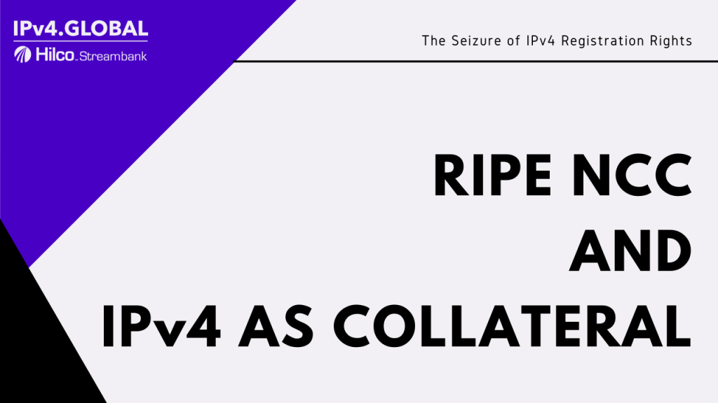 RIPE NCC using IPv4 as collateral