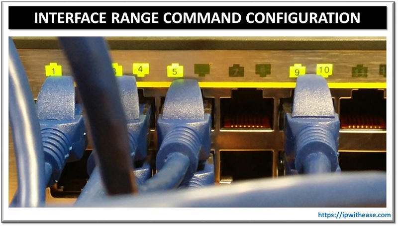 interface range command configuration