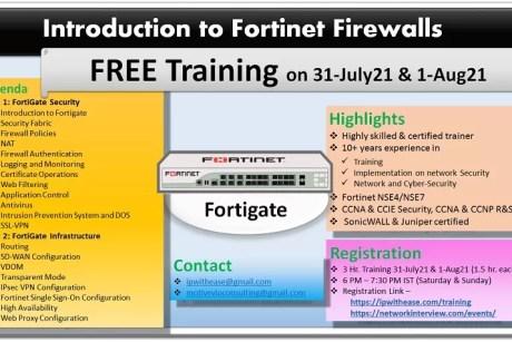 FORTINET FREE TRAINING