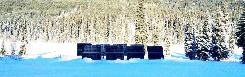 Off Grid solar system Keefer Lake Lodge BC