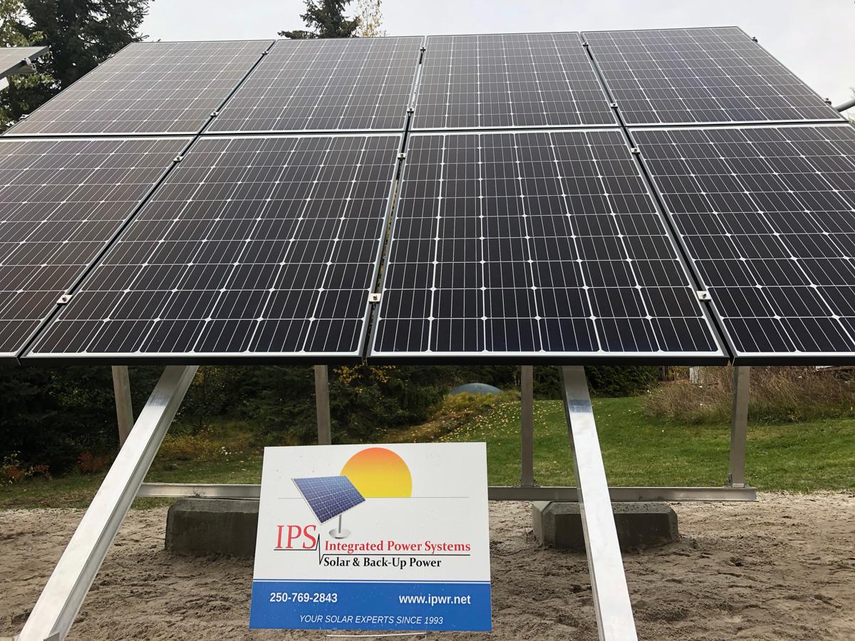 Grid-Tie Ground Mount Solar Installation   Integrated Power