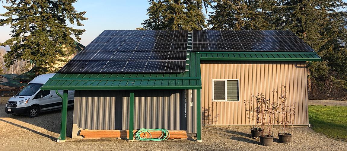 metal roof grid-tie solar installation